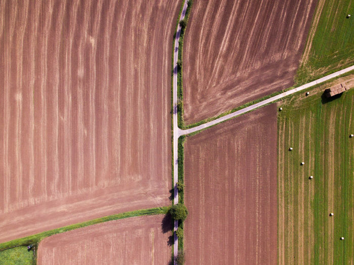 Field patterns Drone  Field Grass Green Nature Phantom 3 Brown Day Dronephotography No People Outdoors Outside Pattern Phantom Street Lost In The Landscape Perspectives On Nature The Great Outdoors - 2018 EyeEm Awards