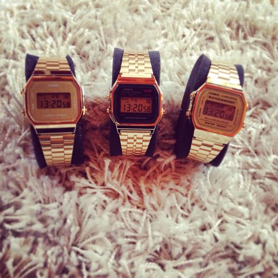 Casio Goldwatch AllGoldEverything Swag TRAWWW ,.. All good things are 3✌️