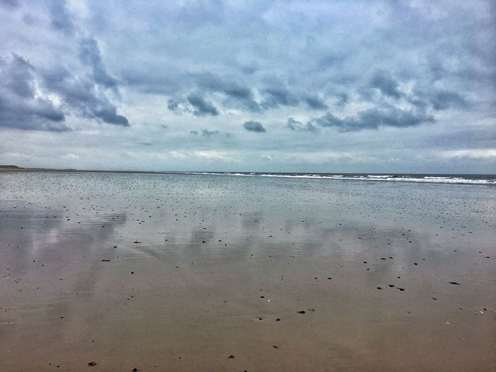 Clouds Reflections On Water Clouds And Sand Sea Nature Water Sky Beach Scenics Cloud - Sky Beauty In Nature Tranquil Scene Horizon Over Water Tranquility Holkham Beach
