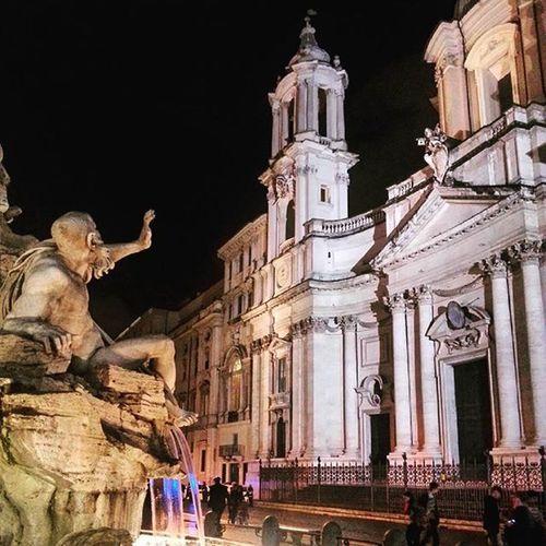 Italy Rome PiazzaNavona FontanadeiQuattroFiumi Architecture Bernini