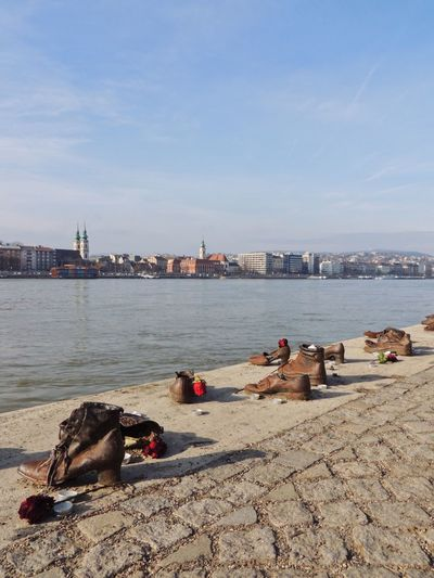 shoes on the danube bank Shoes On The Danube Bank Memorial Holocaust Budapest River Bank  River Shoes Water Sky Sea Beach Nature Land Architecture Day No People Sunlight City Outdoors
