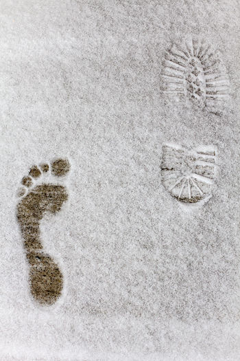 Foot Footprints LastSnow Mark Association Footprints In The Snow Reality Snowinapril Snowtime, Friendstime