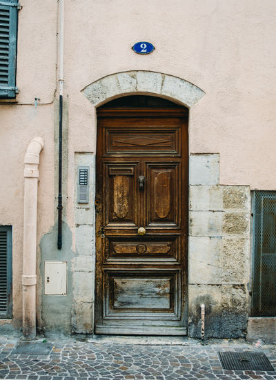 Architecture Building Building Exterior Built Structure Closed Door Entrance French Front Door House Old Outdoors