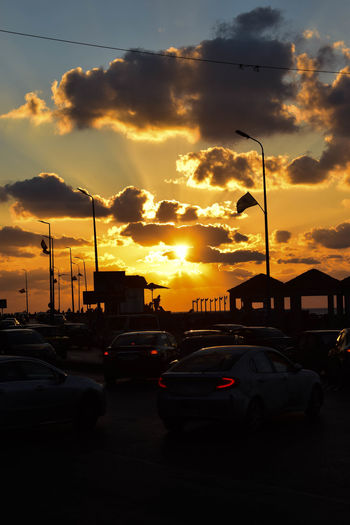 Car Sunset Cloud - Sky Silhouette Sky No People Transportation Outdoors City Night Nature Afternoon Sun People Alexandria Beach Cars Traffic D5300 Nikonphotography Red