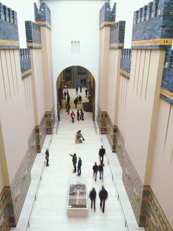 Indoors  Education People Architecture Museumsinsel High Angle View Berlin Travel Destinations Built Structure Pergamonmuseum Capturing Motion