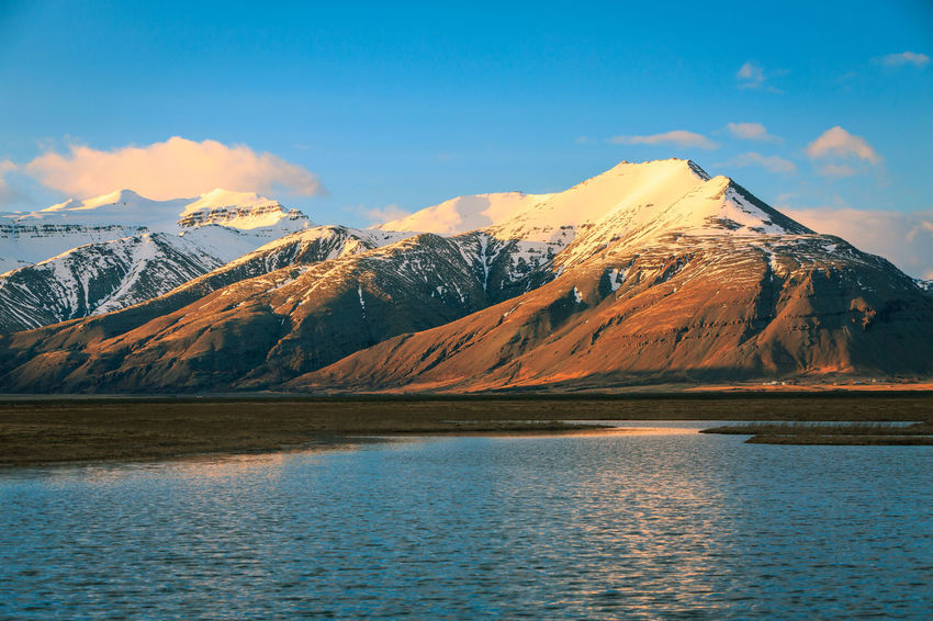 Beauty In Nature Cloud - Sky Cold Temperature Day Iceland Lake Landscape Mountain Mountain Range Nature No People Outdoors Scenics Sky Snow Snowcapped Mountain Tranquil Scene Tranquility Travel Destinations Water Waterfront Winter