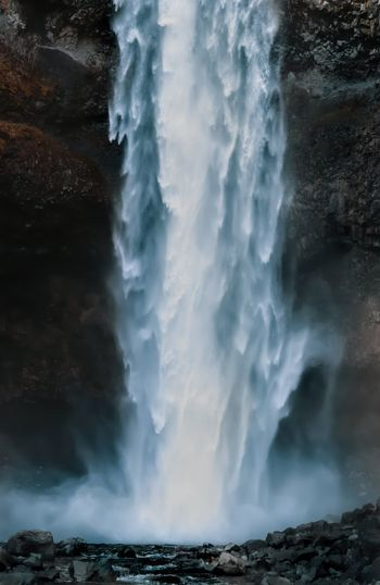 more joy and less overwhelm Water Power In Nature Waterfall Hot Spring Motion Beauty Long Exposure Awe Mountain Rock - Object Flowing Water Stream - Flowing Water Light Trail Flowing Physical Geography
