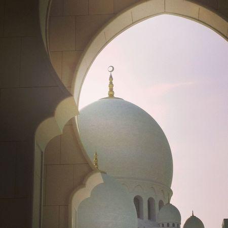 Abu Dhabi Arch Architecture Mosque Muslim Religion Spirituality Travel