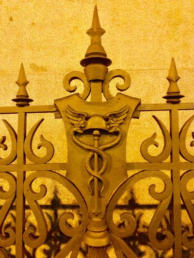 Yellow Gold Colored Full Frame Symmetry Close-up Architecture No People Outdoors