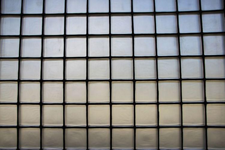 Glass Bricks Wall Opaque Squares Translucent Light Grid