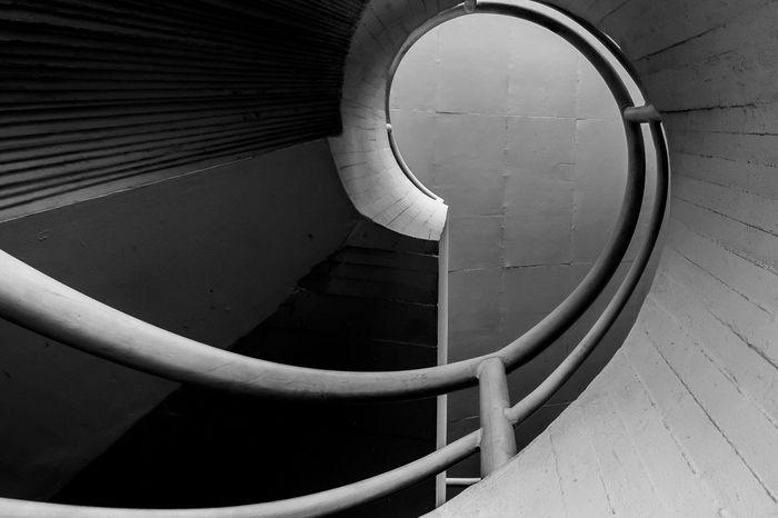 CircularStair in a Popular Theater in Niteroi, Rio, Brazil Stairs Geometric Shapes Blackandwhite Black And White Black & White Circular