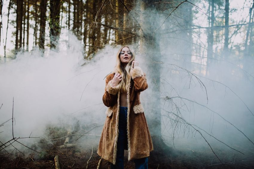 In Still Motion Photography Liampea Sheffield Photographer Smoke Bomb Smoke EyeEm Selects One Person Beautiful Woman Winter One Woman Only Tree Young Women Long Hair Cold Temperature Forest Nature Outdoors Portrait The Portraitist - 2018 EyeEm Awards