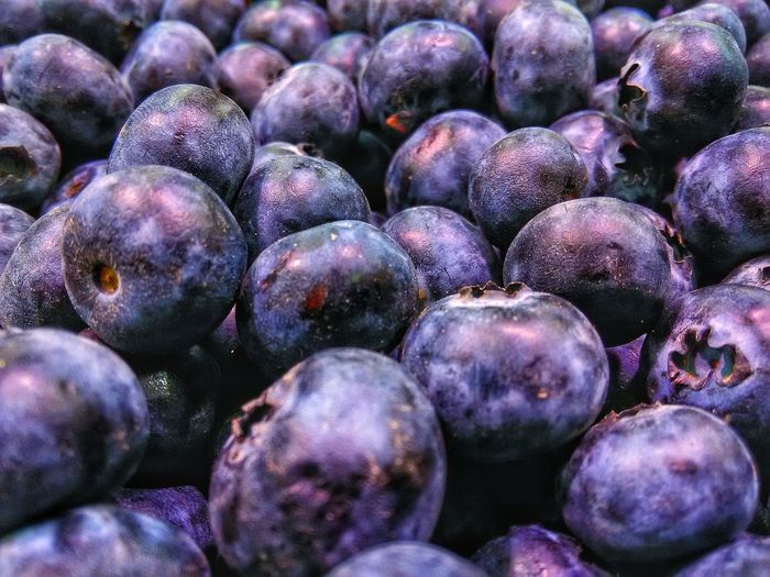 Full frame shot of blackberries