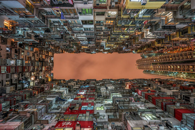 Long exposure shot towards the sky in Quarry Bay area, Hong Kong Architecture Buildings & Sky Chilling Color Hong Kong Human Settlement Long Exposure Lookup Quarry Bay Symmetry Towards The Sky Cities At Night The Architect - 2016 EyeEm Awards