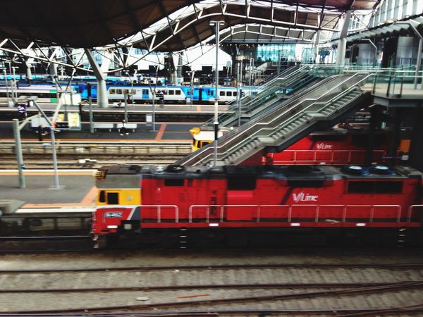Playing with trains Taking Photos Melbourne Beautiful Surroundings Colors Exploring Creative Life Mariogordon