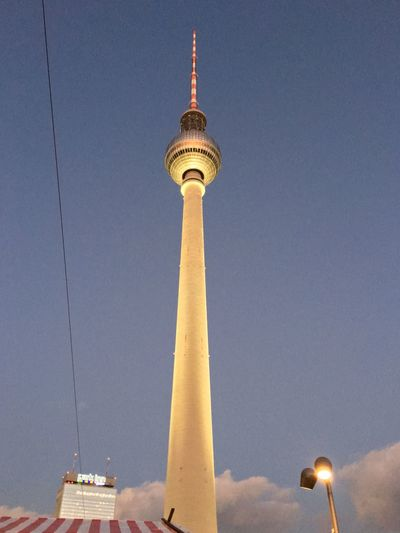 Lookingup Evening Sky Fernsehturm My Berlin  Urban Exploration Architecture DDR Walking Around Sightseeing