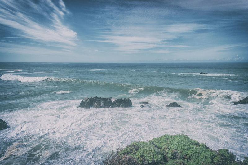 Bodega Bay Waves Sea Water Sky Scenics - Nature Horizon Horizon Over Water Beauty In Nature Wave Beach Cloud - Sky Nature Outdoors Power In Nature Tranquil Scene California Bodega Bay Sonoma