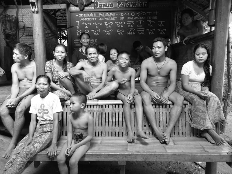 Palaw-an Tribe People And Places. Indegenous Poeple Black And White Photography