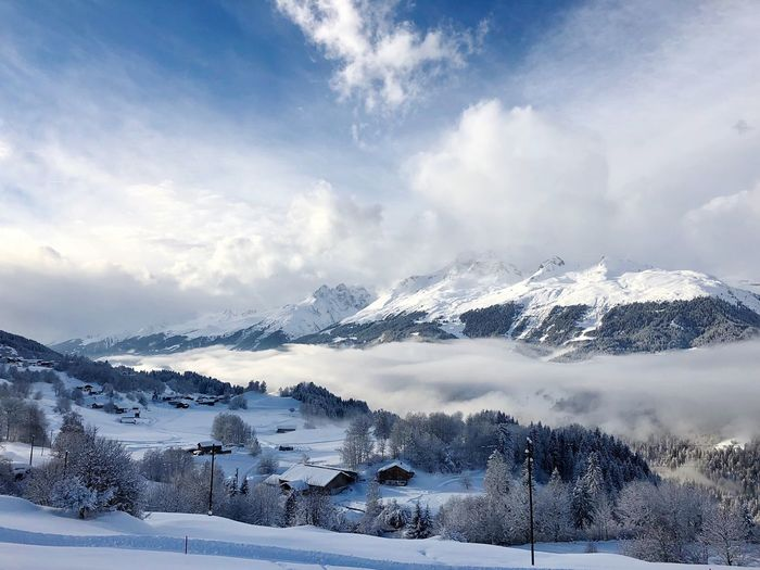 Winter wonderland EyeEm Nature Lover Snow Winter Cold Temperature Weather Mountain Cloud - Sky Nature Beauty In Nature Sky Tranquility Scenics Snowcapped Mountain Tranquil Scene Day Outdoors Mountain Range No People Landscape Ski Holiday