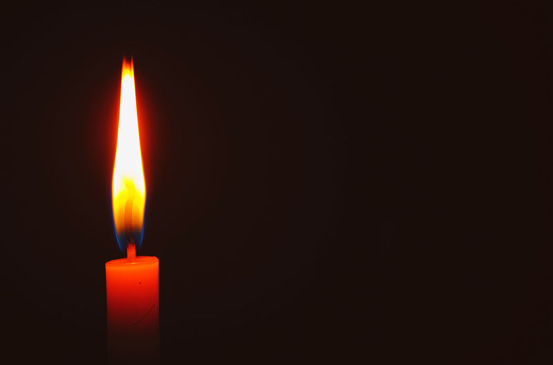 Candle light in