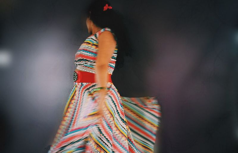 Arts Culture And Entertainment Casual Clothing Cinco De Mayo Close-up Dancing Elusive Fashion Focus On Foreground Front View Holding Indoors  Leisure Activity Lifestyles Men Multi Colored Person Rear View Standing Three Quarter Length Traditional Clothing Young Adult