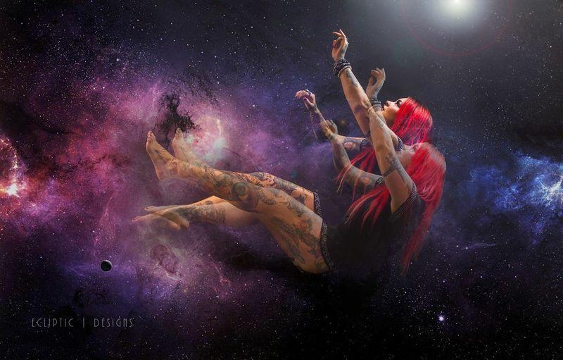 Takemeaway Galaxy FarOff Stars Model Inkedgirls Tattoos Inkedchicks Art