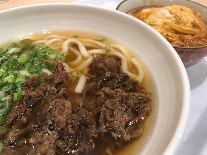 SA名物「肉うどん」美味い♪(*