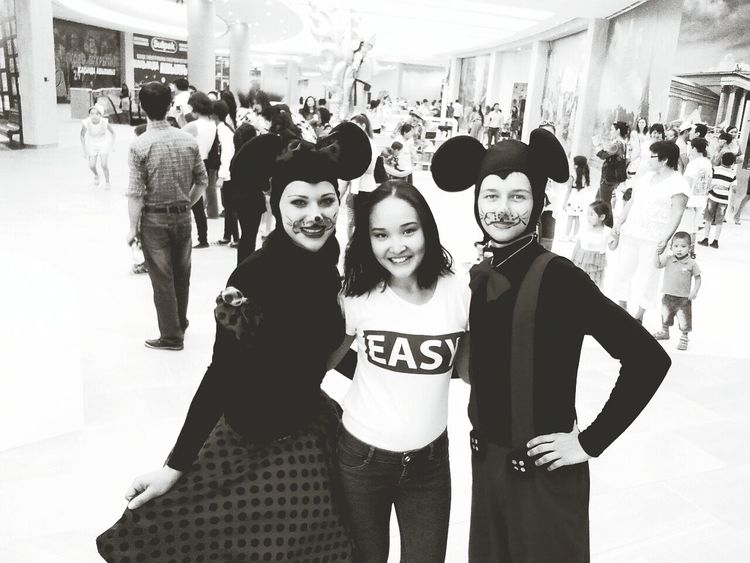 Mickey Mouse Minnie Mouse Happiness Black & White