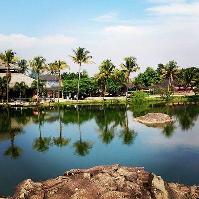 Pond at Stone Park Instasunda instanusantara instanusantaraNature instanusantarabandung Banjaran