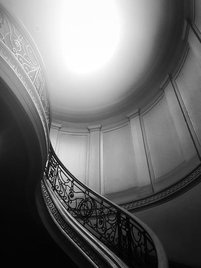 Staircase Indoors  No People Curve Built Structure Day Architecture Spiral Staircase Black And White EyeEm Phillipines Shapes The Week On EyeEm