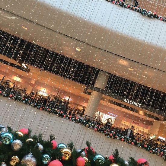 Christmas Decor ✨❤️🎄🎅🏽🤶🏽 Selfridges Birmingham All Saints  Topshop Balcony Bauble Christmas Pretty Photography Aperture Priority Close-up