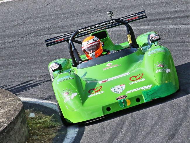 Corsa Auto Cronoscalata Green Color Velocità