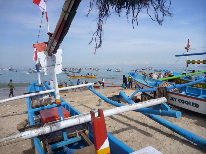 Bali Bali, Indonesia Beach Colour Of Life Fishermen Boat Fishermen's Life Transportation Jimbaran, Bali, Indonesia Life Travel Still Life Nautical Vessel Colors Of Life Investing In Quality Of Life