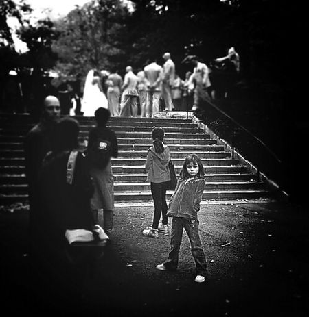 Watching a wedding party at the EyeEm meet up at Princeton on October 19, 2013 Blackandwhite EyeEm New Jersey Phoneography Lomo Style