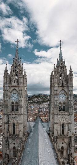 The view from the top of the cathedral. Outdoors Day Urban Travel Destinations Urbex City Built Structure Architecture South America Latin America Capital Cities  Spirituality Religion Belief History Gothic Style Clock Tower Symmetry Place Of Worship Symbol Cross Church Cathedral Roof