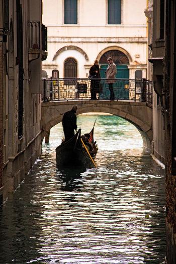 Gondola along a