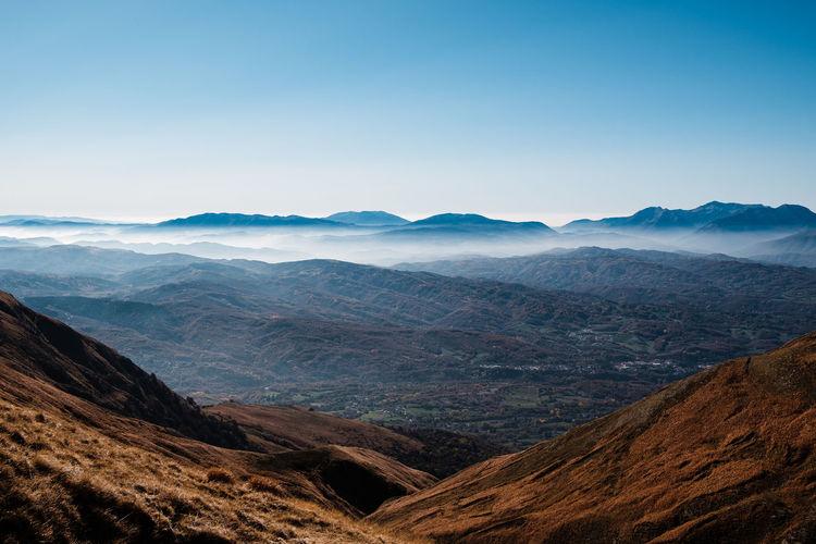Scenic view of dramatic landscape in amatrice, lazio italy