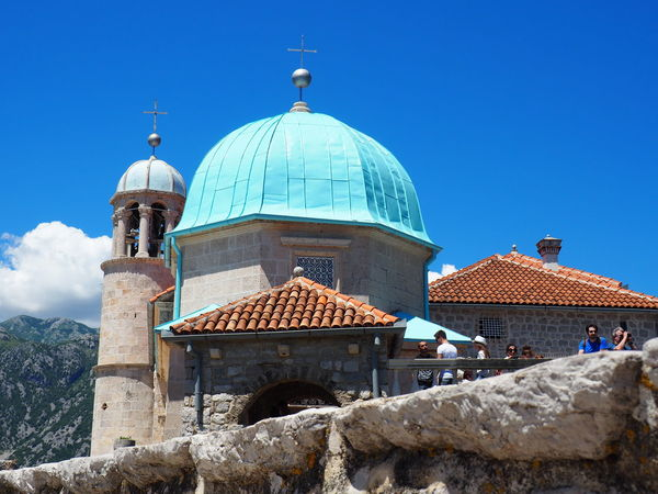 Our Lady Of The Rocks Perast Montenegro Perspective Travel Architecture Blue Clear Sky Dome Place Of Worship Religion Spirituality Travel Destinations