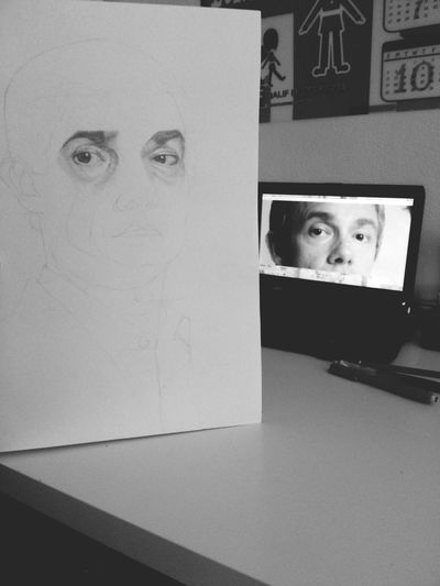 Work in Progress Martin Freeman Realism Drawing John Watson