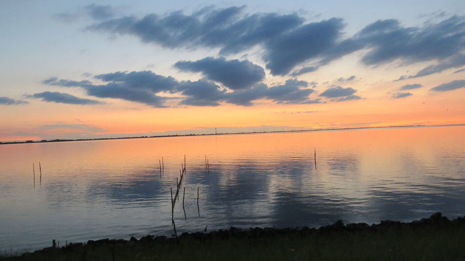 Sunset Reflection Landscape Tranquility Lake Water Dramatic Sky Horizon Over Water Scenics Majestic Nature Beauty In Nature Tranquil Scene Cloud - Sky Beach Sky Orange Sky Cloudscape Holland Thenetherlands Ijsselmeer Sx50hs