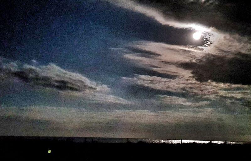 Moon over the Bay Of Plenty at Pikawai last night. Night Sky Nature NZ New Zealand BOP