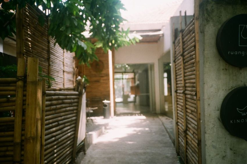 35mm Film EyeEmNewHere Building Exterior Day Entrance Focus On Foreground Olympusxa Outdoors Sunlight