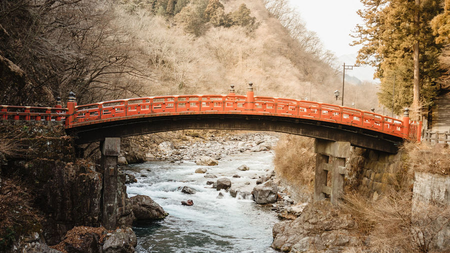Tochigi, japan - february 14,2020 shinkyo bridge in nikko