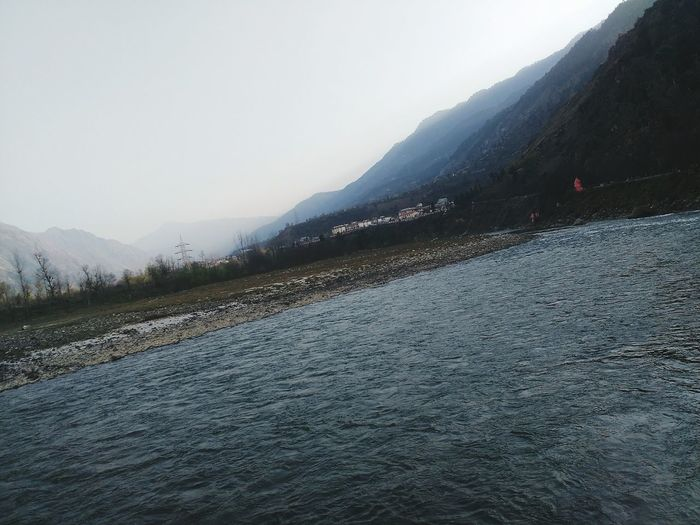 River Mountains Trees Riverbank Riverbank View Eye4photography  Water Himalayas Check This Out HimalayaScape Phoneography PhonePhotography Phone Photography