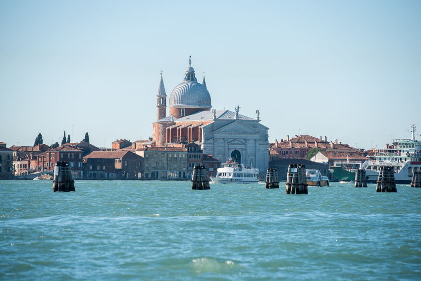 Venice, Italy Architecture Canal City Clear Sky Day Gondola - Traditional Boat Nautical Vessel No People Outdoors Religion Venice Water Waterfront