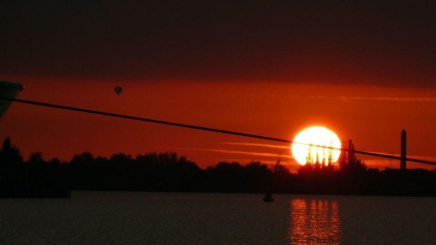 Water Sunset Silhouette Sun Tree Sky