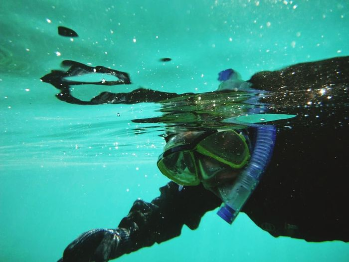 Swimming UnderSea Underwater Photography Blue Undewater Snorkeling The Color Of Sport People And Places