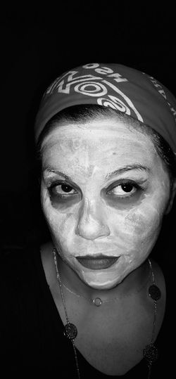 Taking Photos Self Portrait Beauty Feminine  Pain And Beauty Reflecting Perfection Facial Facial Experiments Black And White Black And White Photography Contrast