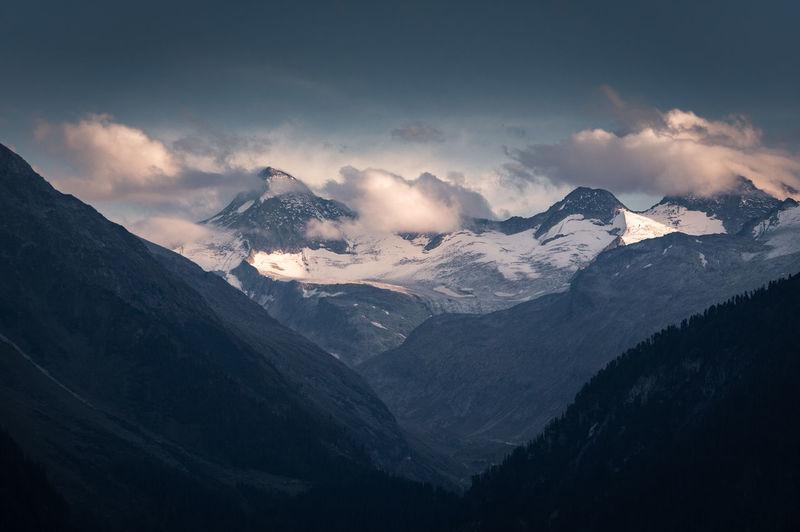 Alpine glow on