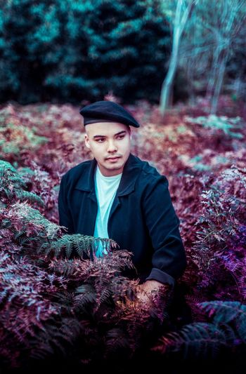 Jimmy Nevis One Person Portrait Looking At Camera Young Adult Hat Front View Clothing Young Men Real People Tree Men Plant Nature Land Lifestyles Waist Up Warm Clothing Adult Forest Outdoors